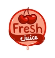 fresh juice emblem 9 vector image vector image
