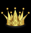 gold crown design vector image vector image