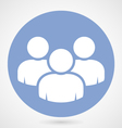 Group of people icon - teamwork or crowd vector image vector image