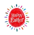 happy Easter logo design template holiday vector image vector image