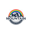 high mountain icon logo vector image