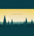 horizontal banner with beautiful forest landscape vector image vector image