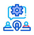 hosts microphone gear icon outline vector image vector image