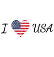 i love country usa america text heart doodle vector image vector image
