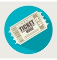 icon ticket movie design vector image vector image