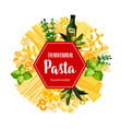italian pasta cuisine and seasonings banner vector image vector image