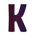 letter K vector image vector image