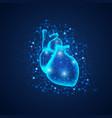 lighting heart vector image vector image
