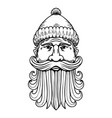 lumberjack head in engraving style design element vector image vector image