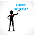 Man holding happy birthday vector image