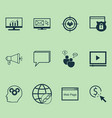 marketing icons set with online consulting vector image vector image