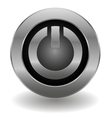 Metallic power button vector | Price: 1 Credit (USD $1)