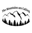 mountains and forest silhouette vector image vector image