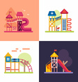 Playground for Kids Set of four colored flat vector image vector image