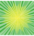 pop art style halftone explosion with light rays vector image vector image