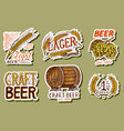 retro bavarian beer stickers alcoholic label with vector image vector image
