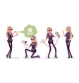 secret agent woman lady spy of intelligence vector image