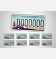 set arizona auto license plate detailed object vector image vector image