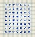 set hand drawn icons vector image