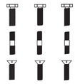 Set of screws icon vector image vector image