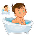 small child take a bath vector image