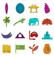 sri lanka travel icons doodle set vector image vector image