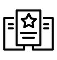 star paper icon outline style vector image