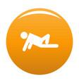 stick figure stickman icon orange vector image