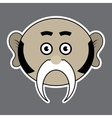 sticker - beige ridiculous man with black mustache vector image vector image