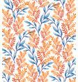 summer leaves pattern vector image