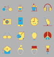 Teenage color icons on gray background vector image vector image