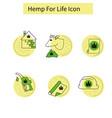 Template hemp icon