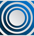 the concentric a blue elements background vector image