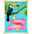 Toucan Bird Summer Vacation Flat Poster vector image vector image