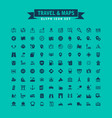 travel and maps glyph icon set vector image