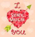 valentine day cards design template vintage vector image vector image