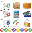 web shop icon set vector image