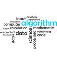 word cloud algorithm vector image vector image