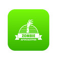 zombie catching icon green vector image vector image