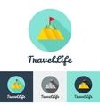 modern flat creative travel company minimalistic vector image