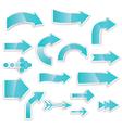 arrows blue vector image