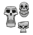 Monster and zombie skulls vector image