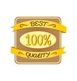Retro best quality label vector image