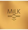 milk bottle design vintage background vector image