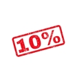 10 Percent Text Rubber Stamp vector image vector image