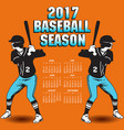 2017 baseball season artwork vector image vector image