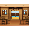 A saloon bar vector image