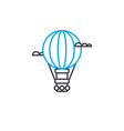 air balloon thin line stroke icon air vector image vector image