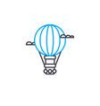 air balloon thin line stroke icon air vector image