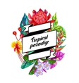 Background with Thailand flowers Tropical vector image